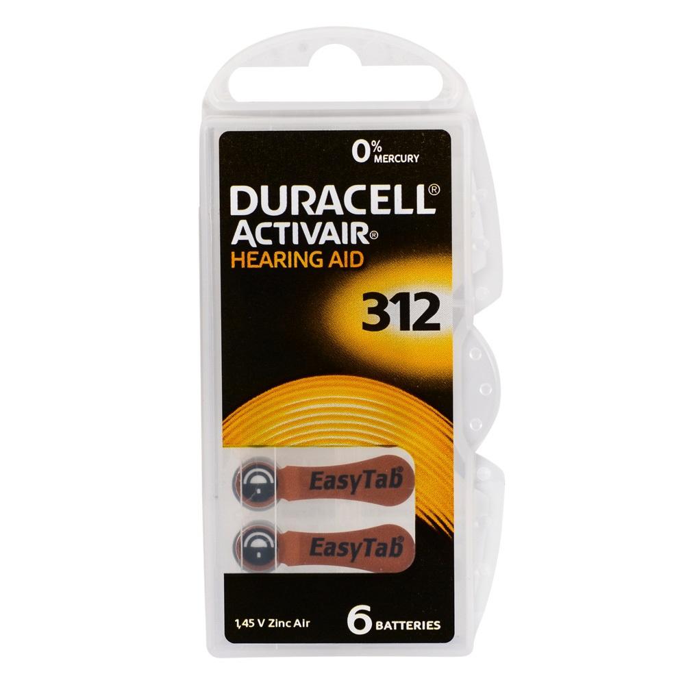Duracell Activair 312 Kulaklık Pili 6lı Blister