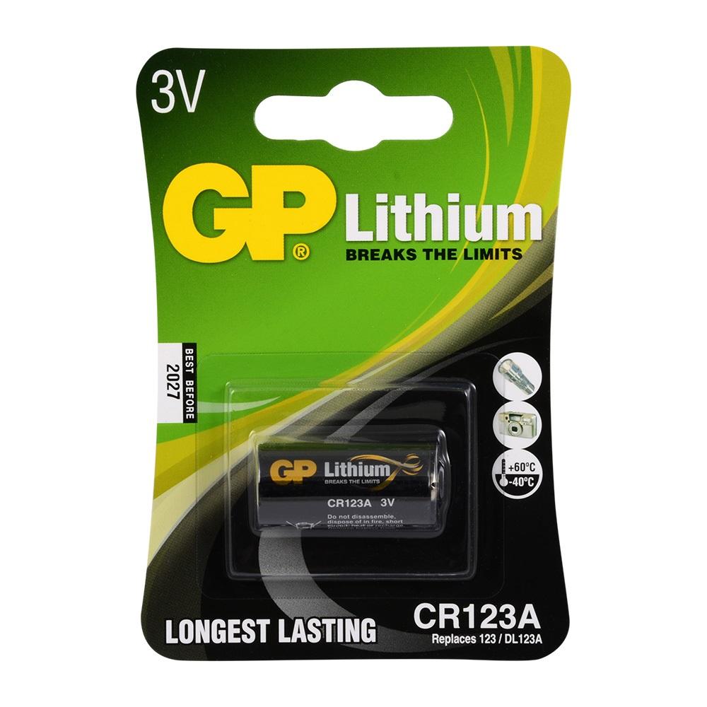 GP CR123A 3V Lithum Pil 1li