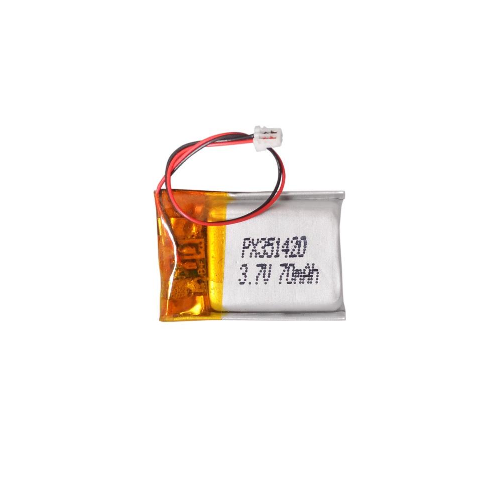 Power-Xtra PX351420 - 3.7V 70 mAh Li-Polymer Pil -Soketli-Devreli-5cm