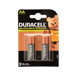 Duracell 1.2V 2500 mAh AA Şarjlı Kalem Pil 2li