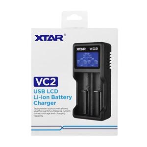 Xtar VC2 - Taşınabilir LCD Ekranlı Li-ion Pil Şarj Cihazı / 2li