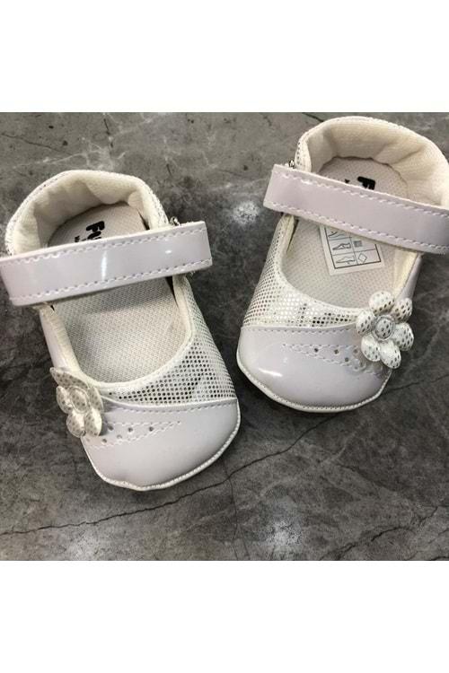 Funny Baby Beyaz Kız Babet Ayakkabı