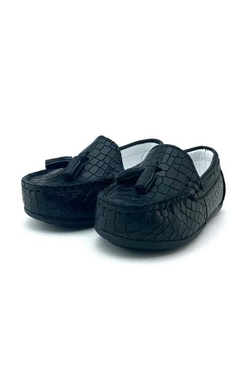 Krokodil Deri Desen Erkek Çocuk Ayakkabı