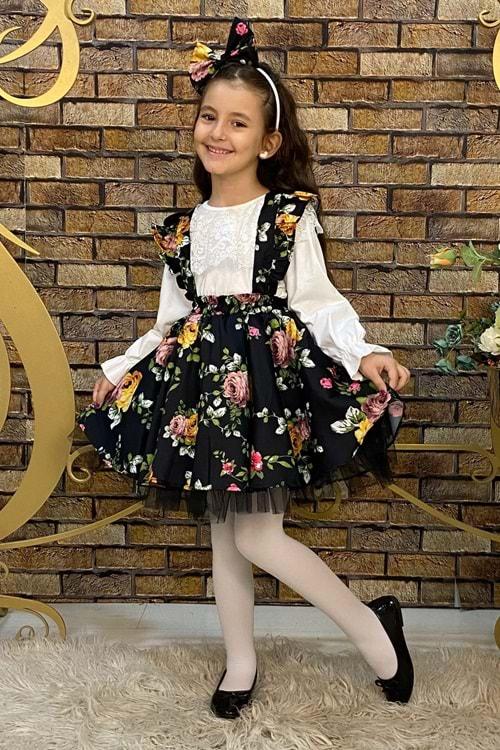 Lilya Çiçekli Dönem Elbise